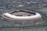 RFK Stadium with surrounding parking lots